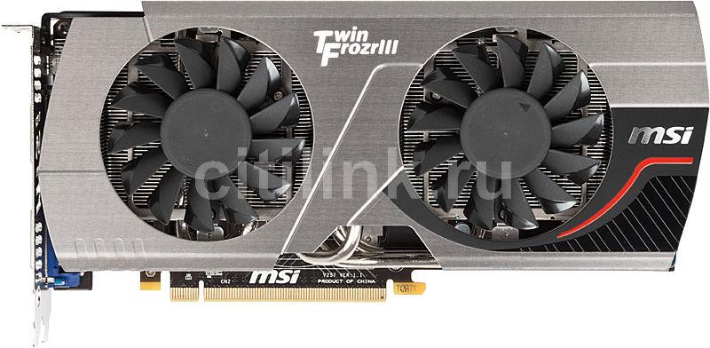 Видеокарта MSI GeForce GTX 570,  1.3Гб, GDDR5, OC,  Ret [n570gtx twin frozr iii/pe/oc]