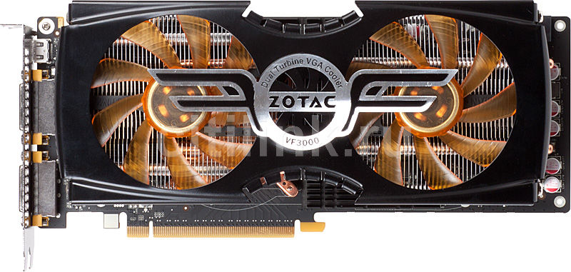 Видеокарта ZOTAC GeForce GTX 580 AMP2! Edition, ZT-50104-10P,  3Гб, GDDR5, OC,  Ret
