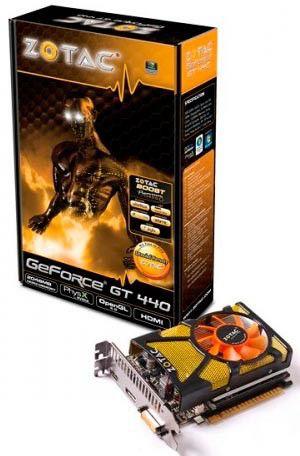 Видеокарта ZOTAC GeForce GT 440,  2Гб, DDR3, Ret [zt-40706-10l]