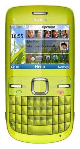 Мобильный телефон NOKIA C3  зеленый