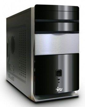 ПК iRu Corp 510 Core i3-540(3060)/4096/1Tb/DVD-RW/black