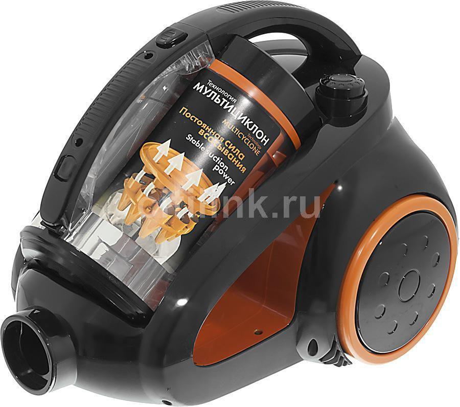 Пылесос SCARLETT IS-580, 1800Вт, черный/оранжевый