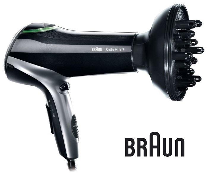 Фен BRAUN HD730, 2200Вт, черный