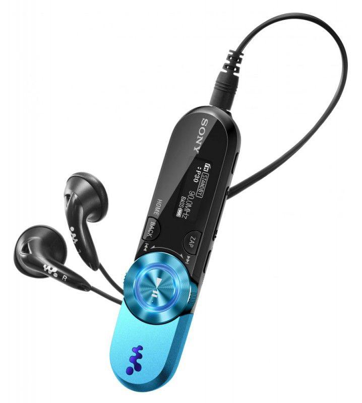 MP3 плеер SONY NWZ-B162FL flash 2Гб голубой [nwzb162fl]