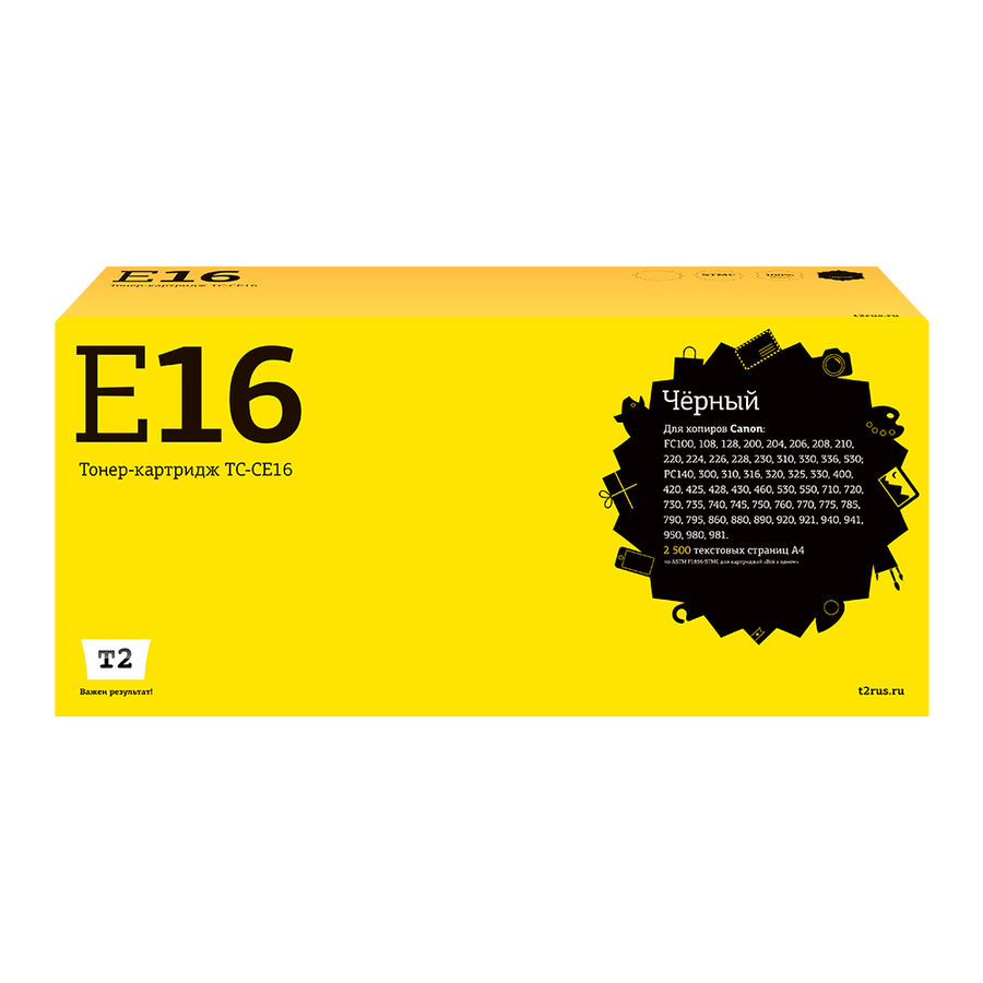 Картридж T2 E-16 TC-CE16,  черный