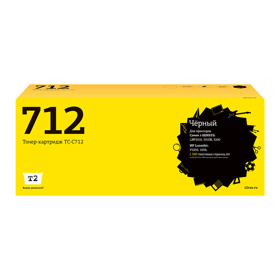 Картридж T2 712 черный [tc-c712]