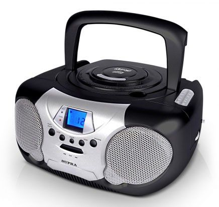 Аудиомагнитола SUPRA BB-CD102,  черный