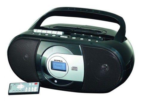 Аудиомагнитола SUPRA BB-CD108U,  черный