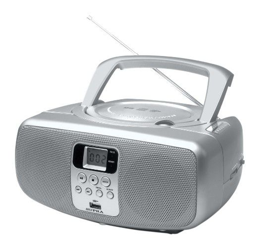Аудиомагнитола SUPRA BB-CD112U,  серебристый