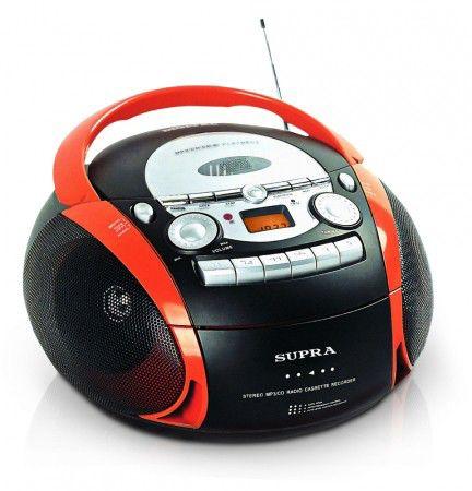 Аудиомагнитола SUPRA BB-CD601,  черный