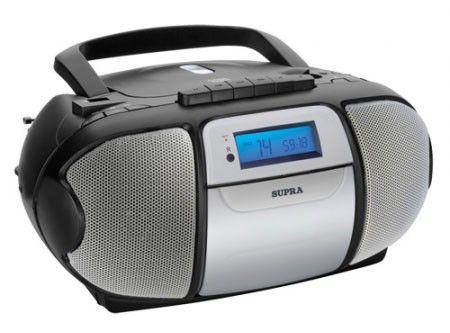 Аудиомагнитола SUPRA BB-CD607,  черный и серебристый