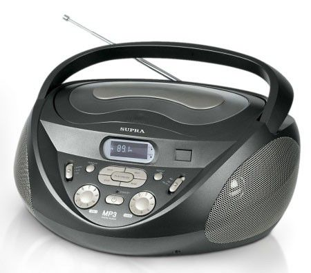 Аудиомагнитола SUPRA SR-CD122,  серый