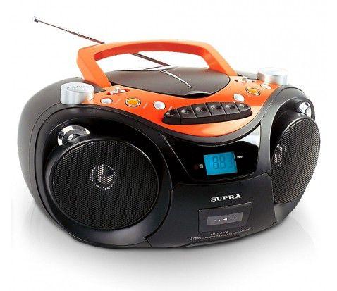 Аудиомагнитола SUPRA SR-CD125U,  черный