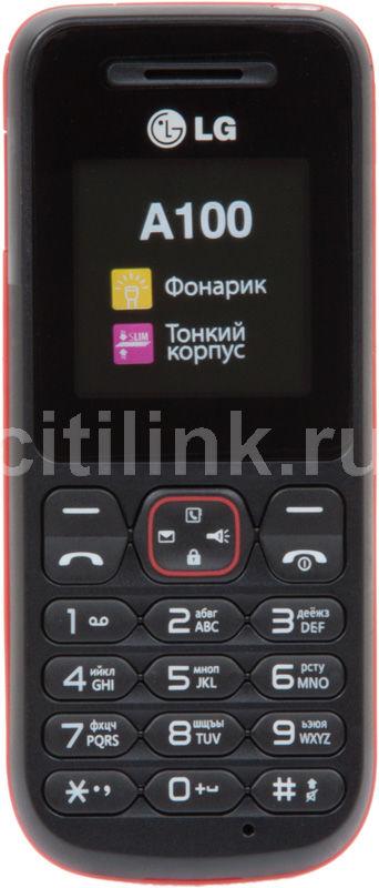Мобильный телефон LG A100  красный
