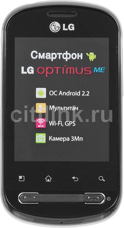 Смартфон LG Optimus Me P350  черный