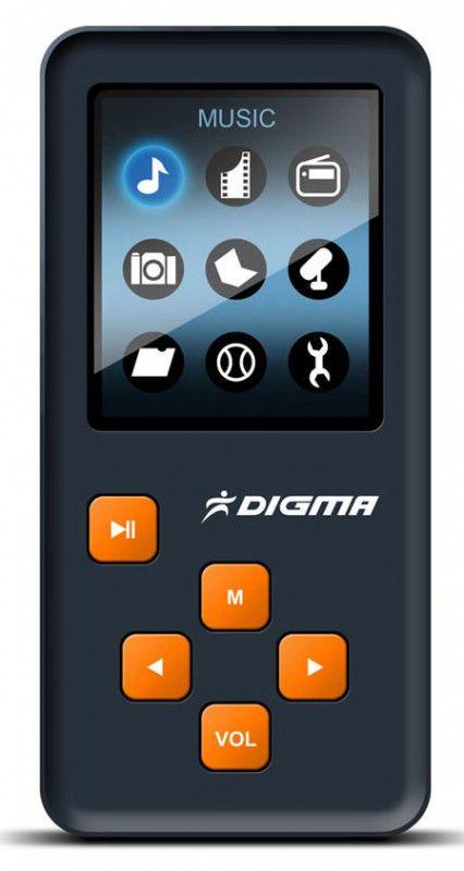 MP3 плеер DIGMA Q2 flash 8Гб черный [q2 8gb bl]