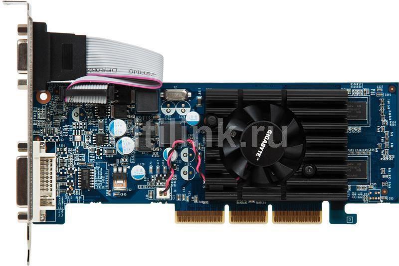 Видеокарта GIGABYTE GeForce 6200,  512Мб, GDDR2, Low Profile,  Ret [gv-n62-512l]