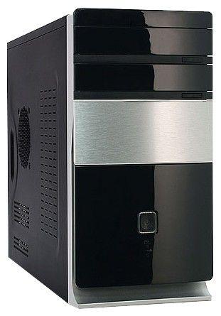 Корпус mATX FOXCONN TLM-725 IRU, Mini-Tower, 400Вт,  черный и серебристый
