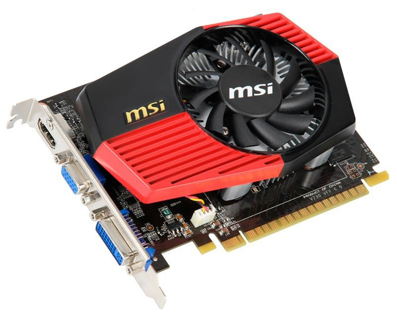 Видеокарта MSI N430GT-MD1GD3/OC,  1Гб, DDR3, OC,  Ret