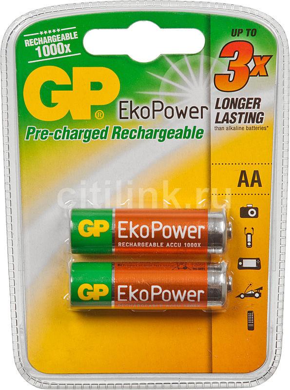 Аккумулятор GP 100AAHCBEP-CR2,  2 шт. AA,  1000мAч