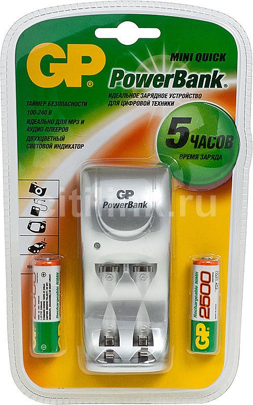 Аккумулятор + зарядное устройство GP PowerBank GPPB25GS250-CR2,  2 шт. AA,  2450мAч