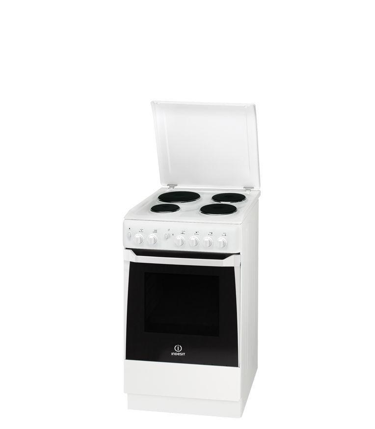 Электрическая плита INDESIT KN1E17 W/RU,  эмаль,  белый