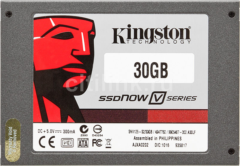 Накопитель SSD KINGSTON V-Series SNV125-S2 30Гб, 2.5