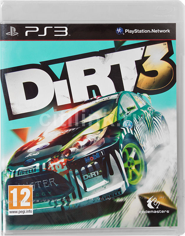 Игра SONY DiRT3 для  PlayStation3 Rus