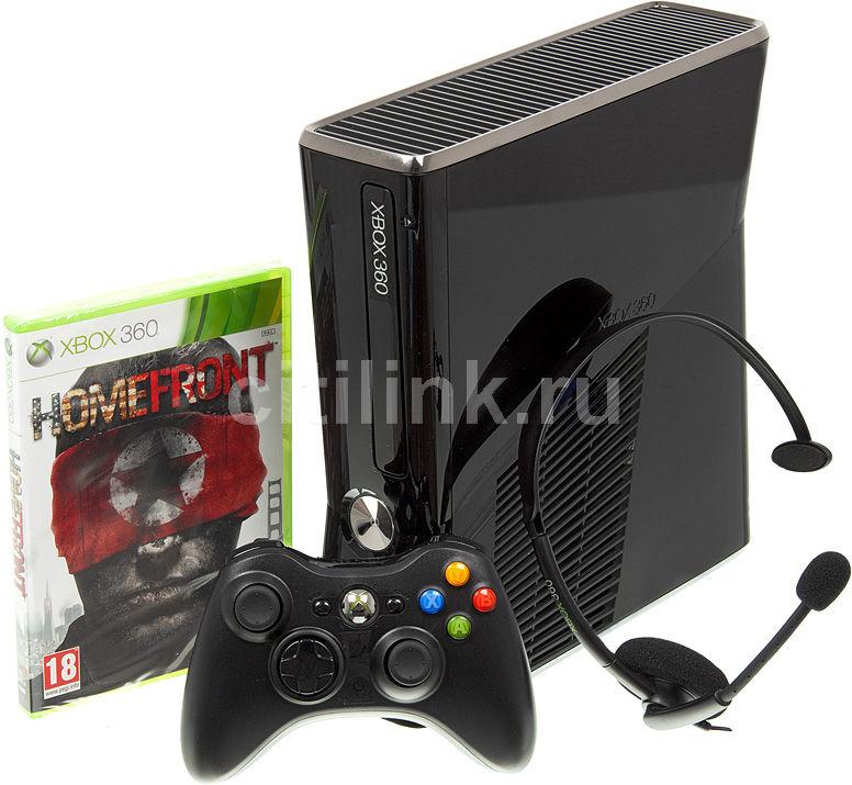 Игровая консоль MICROSOFT Xbox 360 S2G-00011, черный
