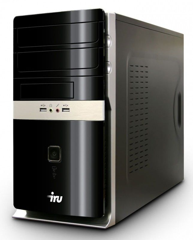 Компьютер  IRU Home 310,  Intel  Pentium  G840,  DDR3 2Гб, 500Гб,  nVIDIA GeForce GT440 - 1024 Мб,  DVD-RW,  CR,  Windows 7 Home Basic,  черный