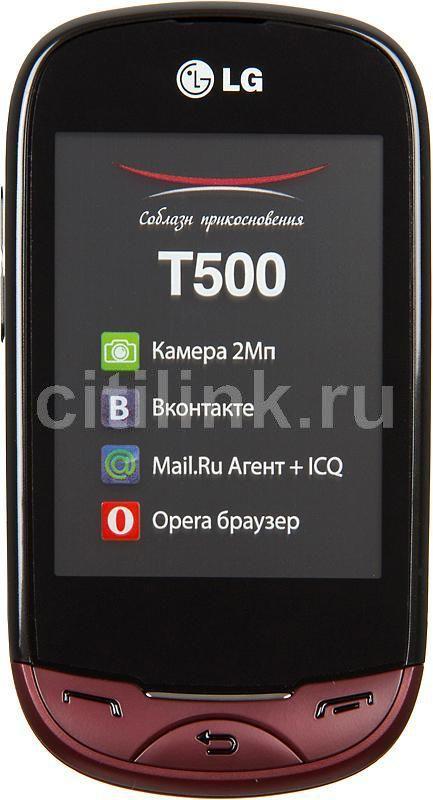 Мобильный телефон LG T500  красный
