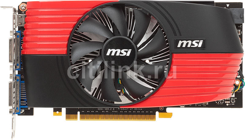 Видеокарта MSI GeForce GTX 550Ti,  1Гб, GDDR5, OC,  oem [n550gtx-ti-m2d1gd5/oc]