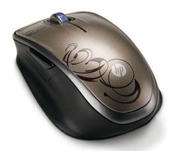 Мышь HP Comfort XV425AA лазерная беспроводная USB, коричневый