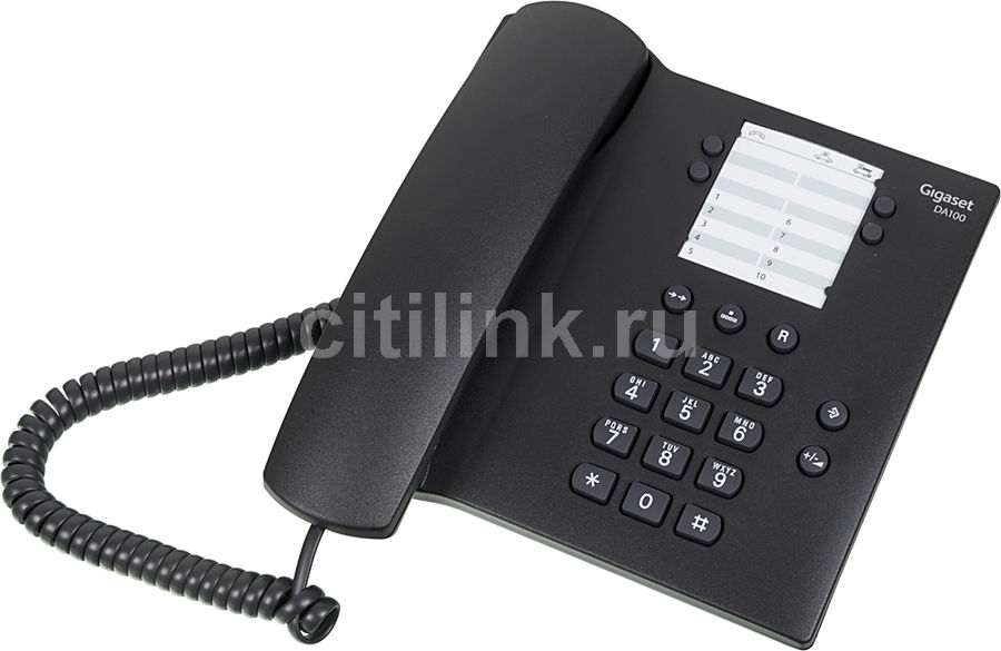 Проводной телефон GIGASET DA100, антрацит