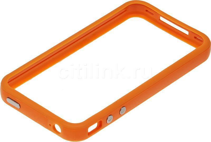 Чехол-накладка Deppa для iPhone 4 оранжевый
