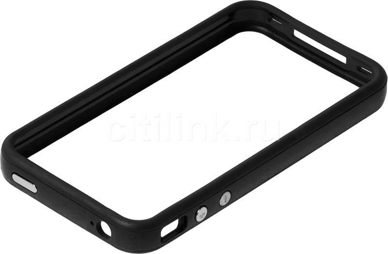 Бампер DEPPA Deppa, для Apple iPhone 4/4S, черный
