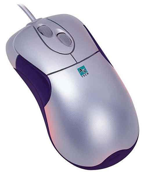 Мышь A4 WOP-35 оптическая проводная USB, серебристый [wop-35 usb]