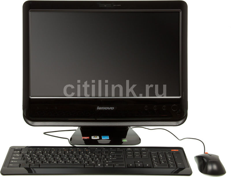 Моноблок LENOVO C205, AMD Fusion E-350, 2Гб, 320Гб, AMD Radeon HD 6310, DVD-RW, Windows 7 Starter, черный [57301422]
