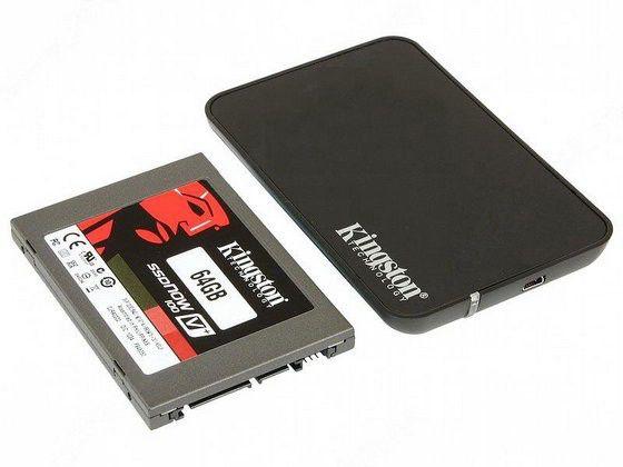 SSD накопитель KINGSTON V+ 100 SVP100S2B/64G 64Гб, 2.5