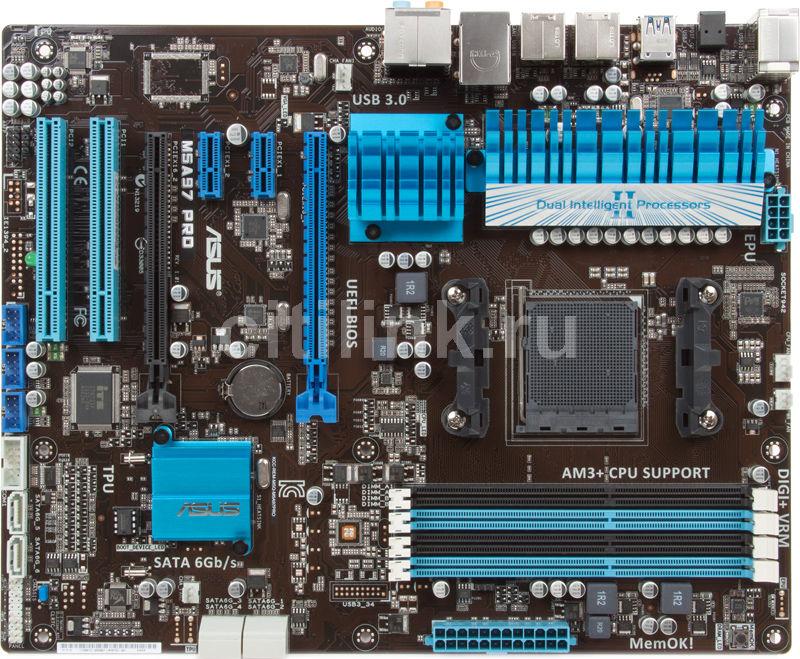 Материнская плата ASUS M5A97 PRO, SocketAM3+, AMD 970, ATX, Ret