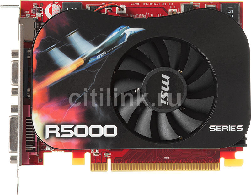 Видеокарта MSI AMD  Radeon HD 5670 ,  1Гб, DDR3, Ret [r5670-md1gd3]
