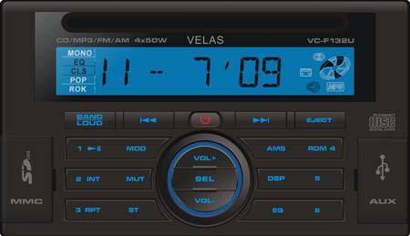 Автомагнитола VELAS VC-F132U,  USB,  SD/MMC