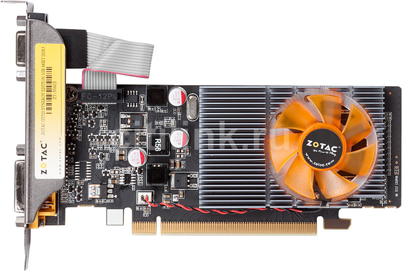 Видеокарта ZOTAC GeForce GT 520,  1Гб, GDDR3, Low Profile,  Ret [zt-50603-10l]