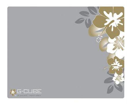 Коврик для мыши G-CUBE GMA-20SR серый/золотистый