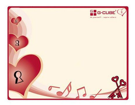 Коврик для мыши G-CUBE Heart & Soul GME-20S бежевый/рисунок
