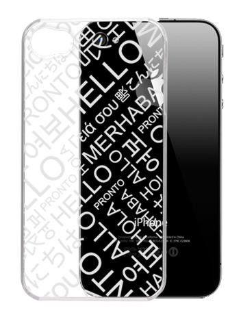 Чехол (клип-кейс) G-CUBE GPCR-4SH, для Apple iPhone 4, прозрачный