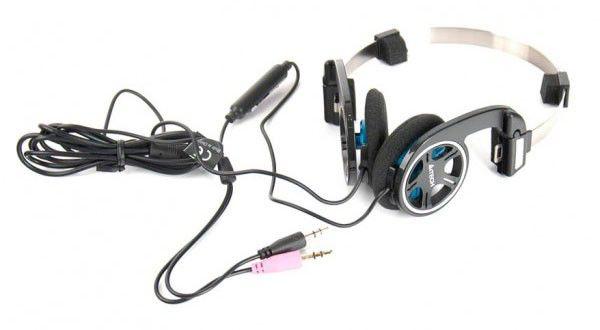 Наушники с микрофоном A4 T-100,  накладные, черный  [t-100-2 bl]