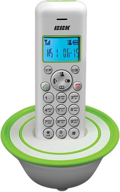 Радиотелефон BBK BKD-815RU,  белый и зеленый [bkd-815 ru w/g]