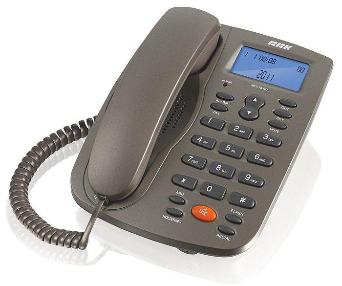 Проводной телефон BBK BKT-78 RU, серый и  черный