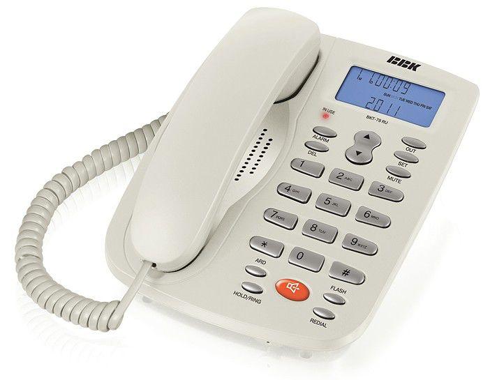 Проводной телефон BBK BKT-78 RU, белый